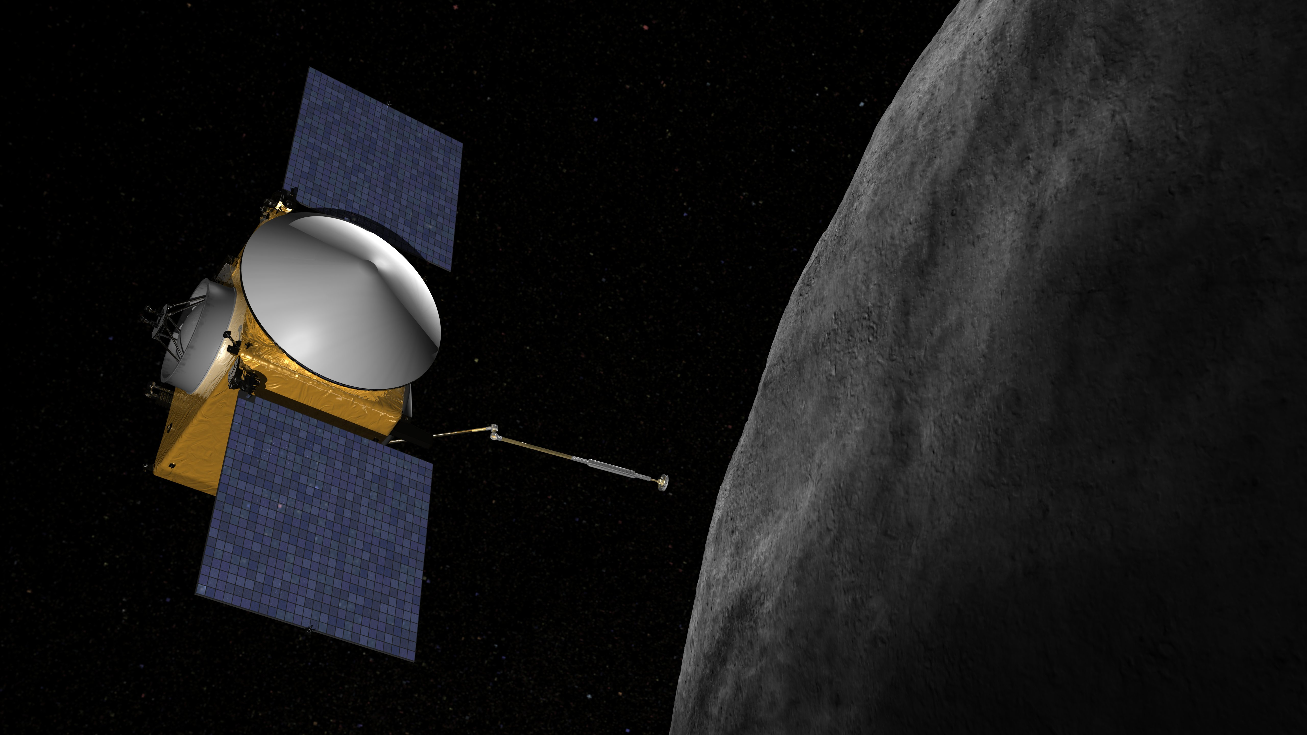 two spacecrafts are on their way to the asteroids right now. This one is OSIRIS-REx, NASA mission to the asteroid Bennu