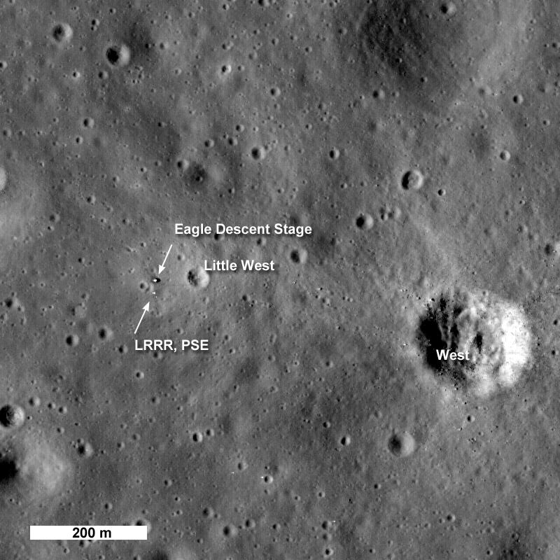Moon landing site for Apollo 11