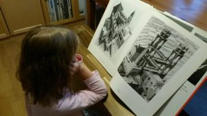 """Exploring Escher's art was inspired by the """"Infinite lives of Maisie Day"""" book"""