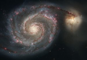 Whirpool Galaxy is a spiral galaxy, like our Milky Way