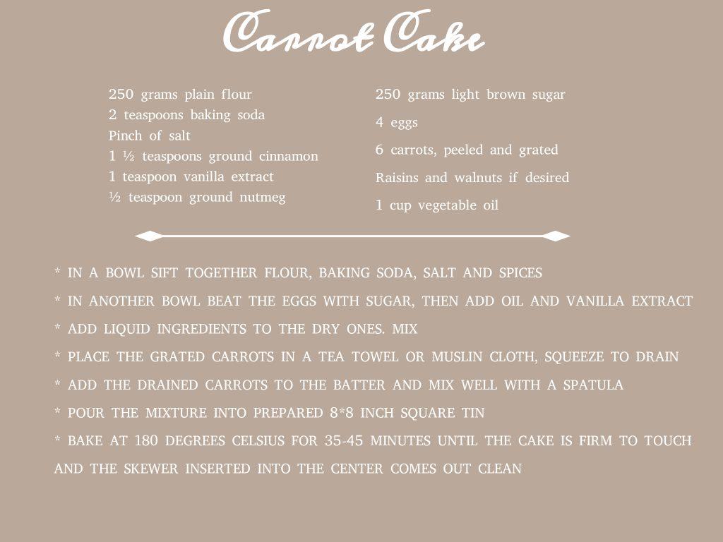 Rocket cake: carrot cake part