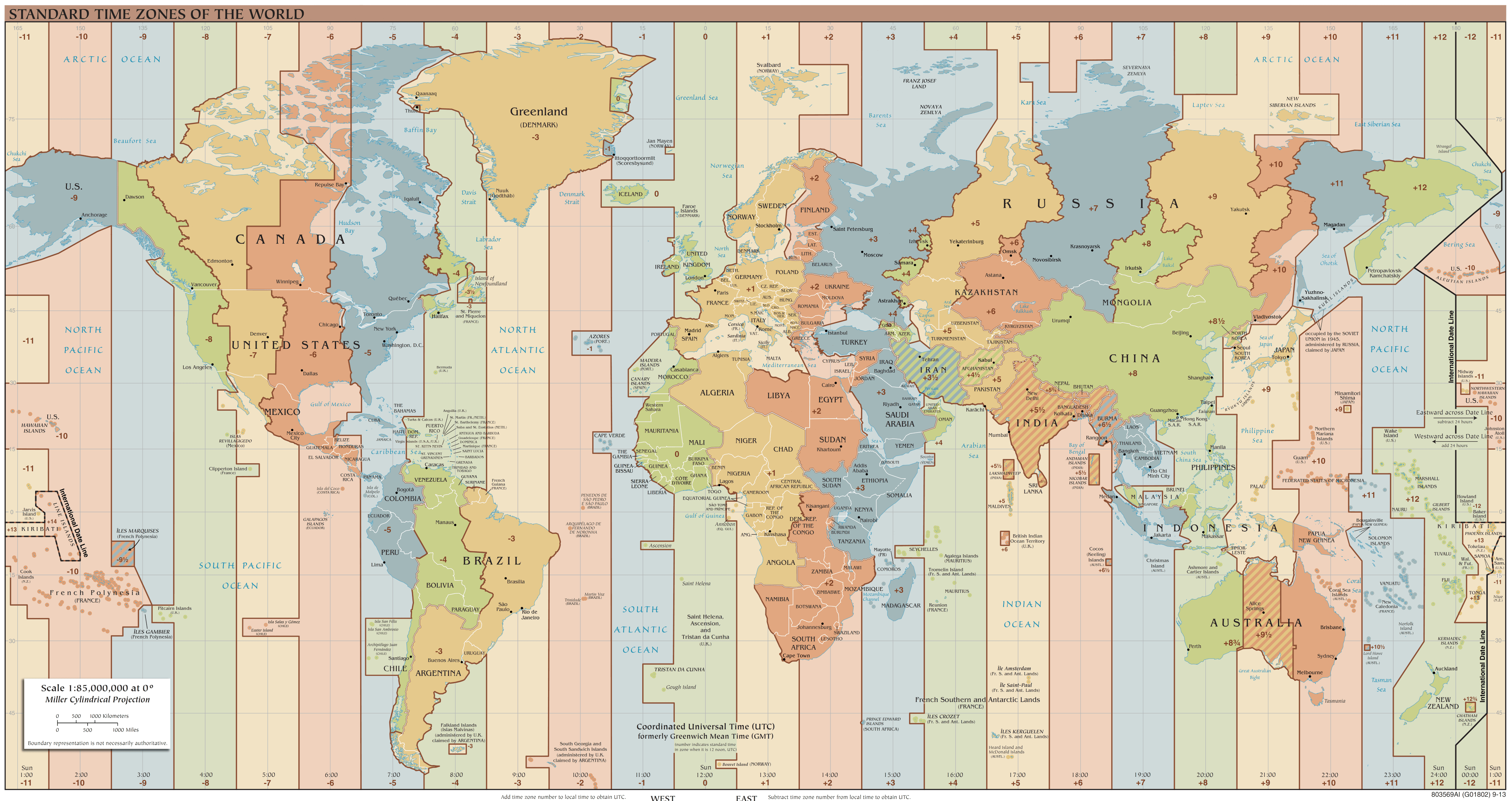 standard world time zones