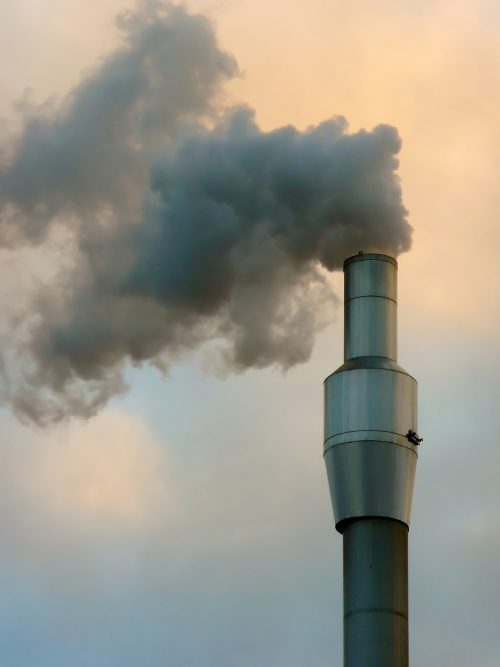 Carbon dioxide from fossil fuel burning contributes to the global warming