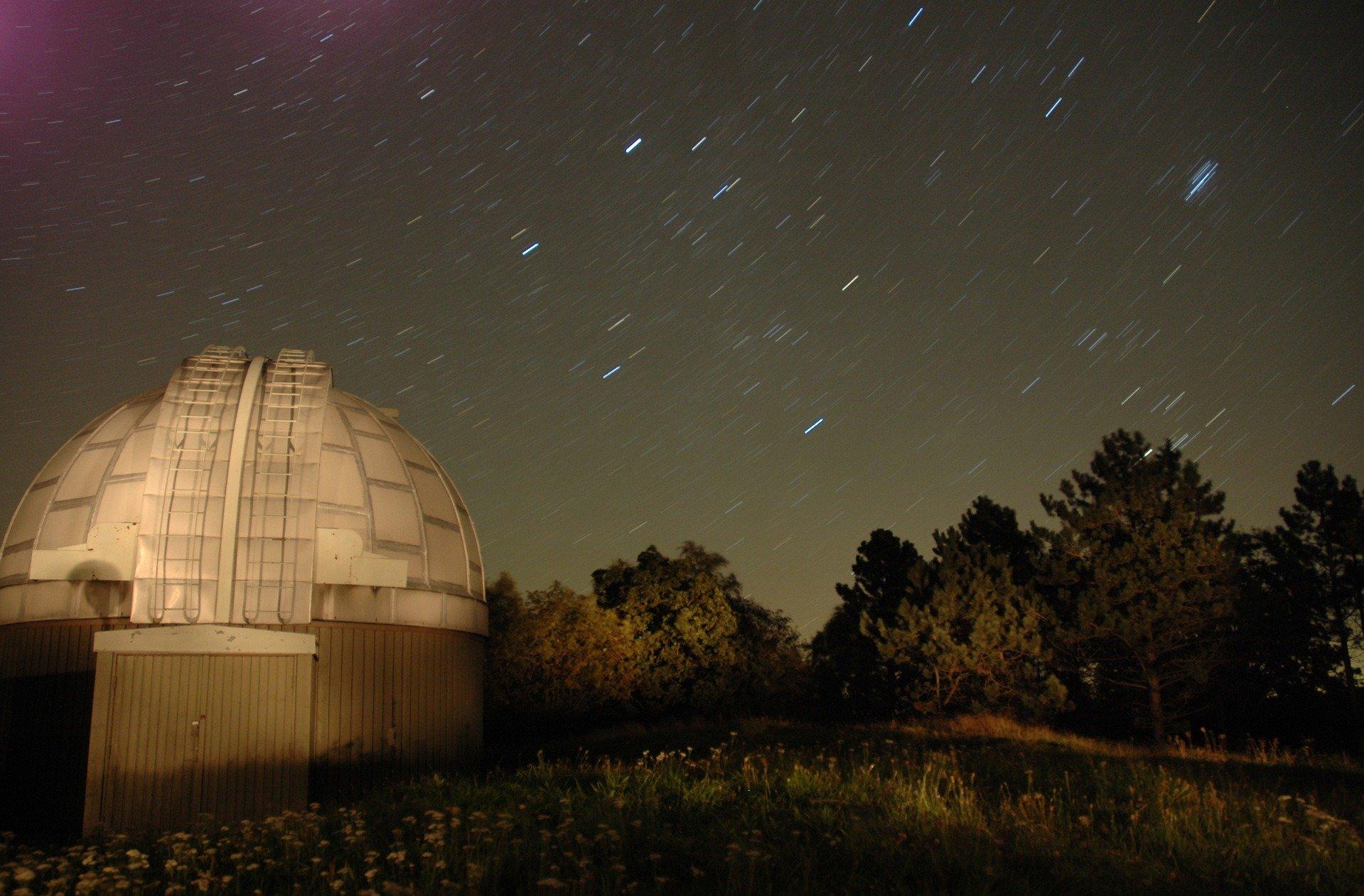 August night sky