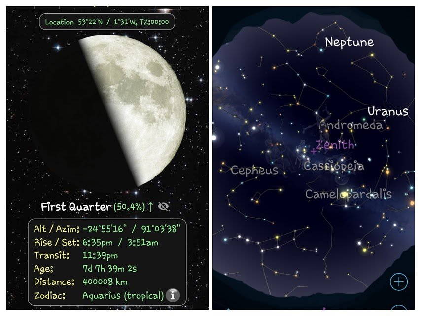 Astronomy apps can help you identify celestial objects