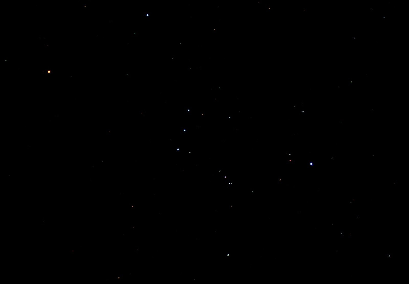 Betelgeuse sits in Orion's left shoulder