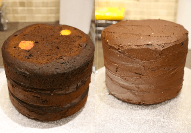 solar system cake preparation