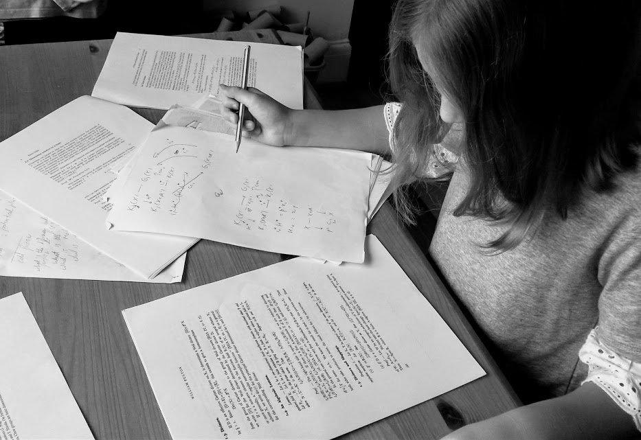Child homeschooling