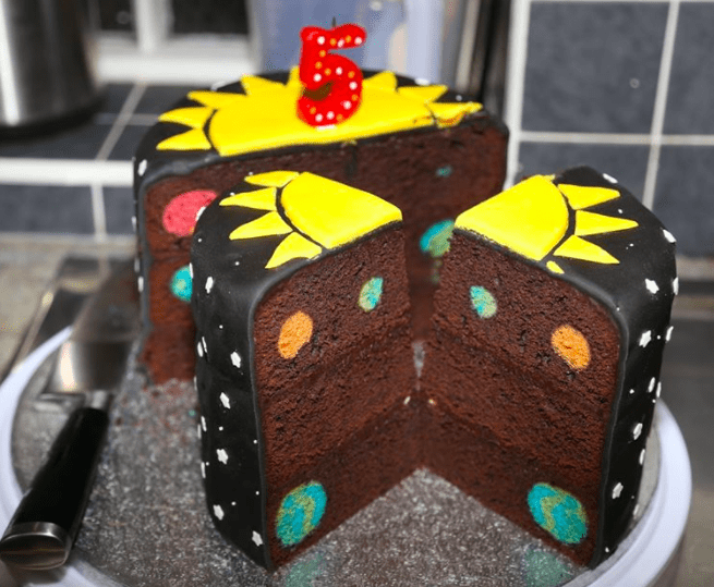 space birthday party cake recepie