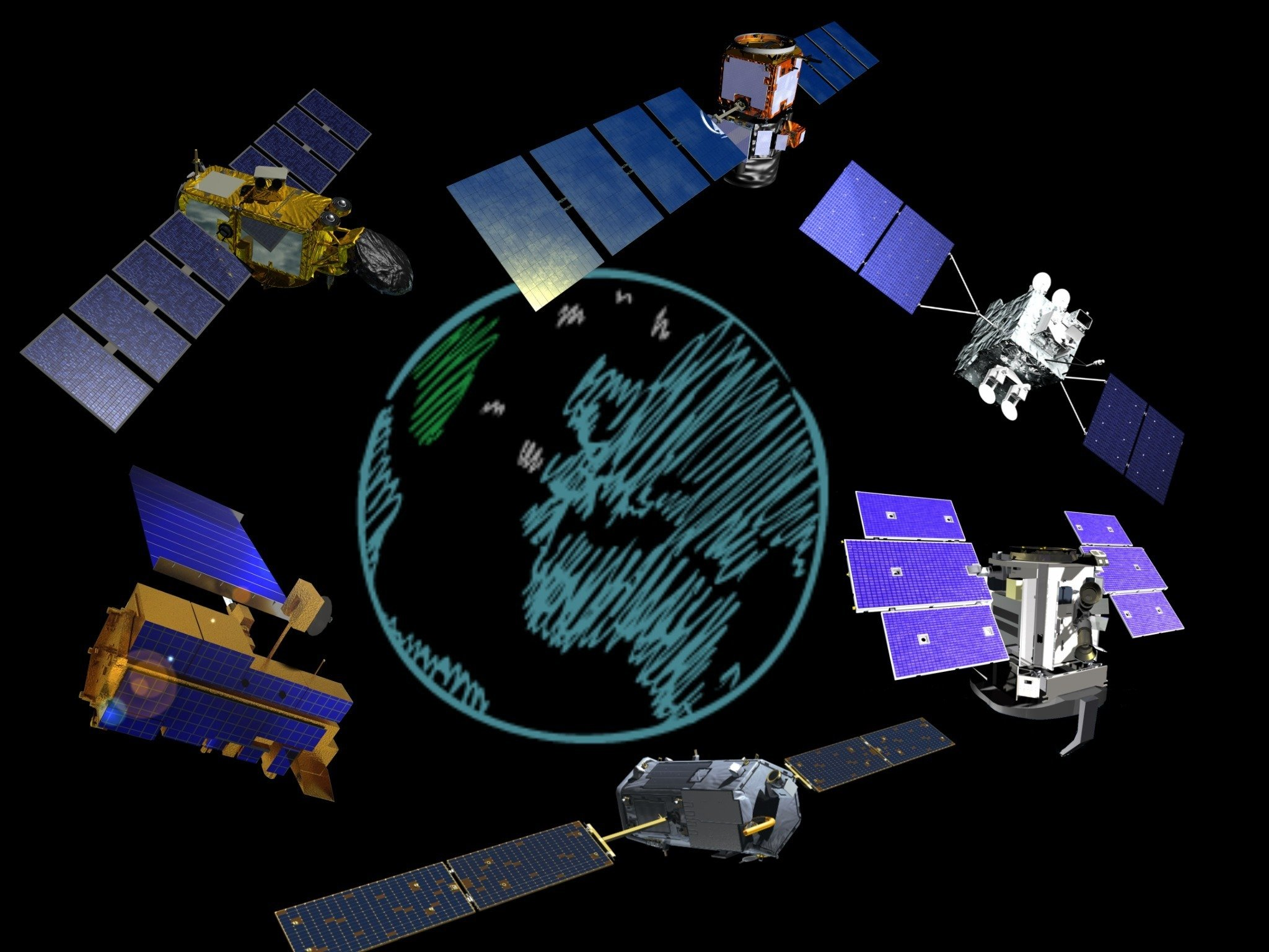 satellites for weather monitoring, search and rescue