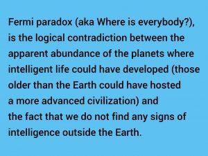 Fermi Paradox mentioned in Space Oddity