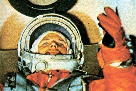 Yuri Gagarin before the start
