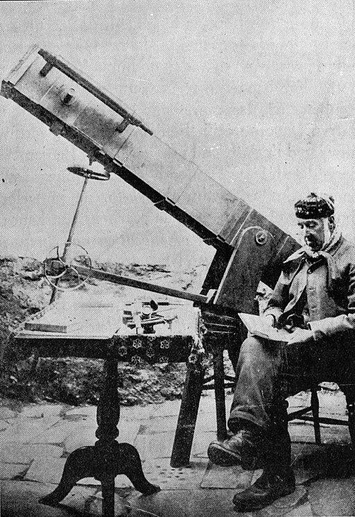 John Jones and his 'Jumbo' telescope
